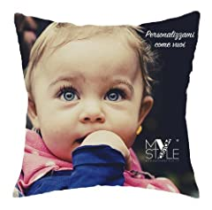 Idea Regalo - My Custom Style cuscino personalizzabile FULL PRINT microfibra 40x40