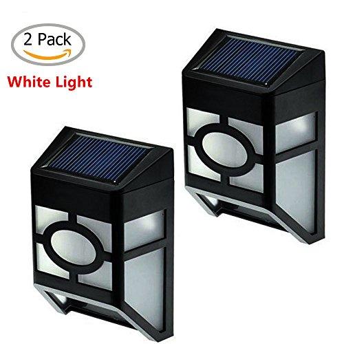yinghao solarbetrieben Path Mount LED Lampe für Outdoor Landschaft Garten Yard Zaun Lampe, 2Stück Weißes Licht (Patio Lichter Post)