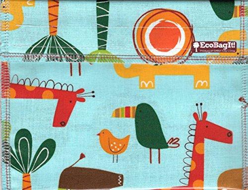EcoBagIt! XL SAFARI Wiederverwendbare Sandwich-Tasche