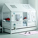 Alfred & Compagnie Lit cabane fille 90x200 blanc