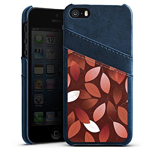 Apple iPhone 6 Housse Étui Silicone Coque Protection Automne Feuilles Bronze Étui en cuir bleu marine