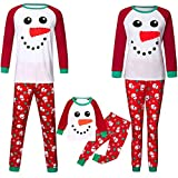 Easong Christmas Family Matching Pajamas Set Santa's Snowman Sleepwear for The Family Boys and Girls,Red