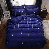 Einstreu für das ältere Schlafzimmer, Herbst und Winter, schöne Bettwäsche, Obstset mit drei oder vier Sets Meteore FR-King