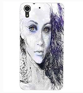 ColourCraft Cat Look Design Back Case Cover for HTC DESIRE 626s