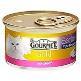 Gourmet Gold Senior Pastete Mit Rindfleisch 85G (Packung mit 6)