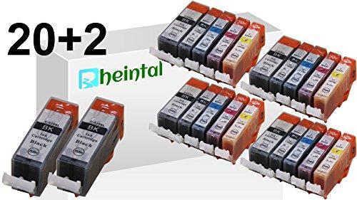 Preisvergleich Produktbild Rheintal - 22 Ersatz CHIP Patronen kompatibel zu PGI-525 / CLI-526