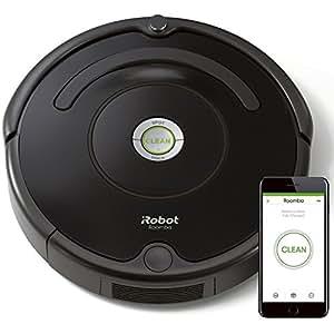 iRobot Roomba 671 Robot Aspirapolvere, Sistema di Pulizia ad Alte Prestazioni con Dirt Detect, Adatto a Pavimenti e Tappeti, Ottimo per i Peli degli Animali Domestici, con Connessione Wi-Fi, Nero