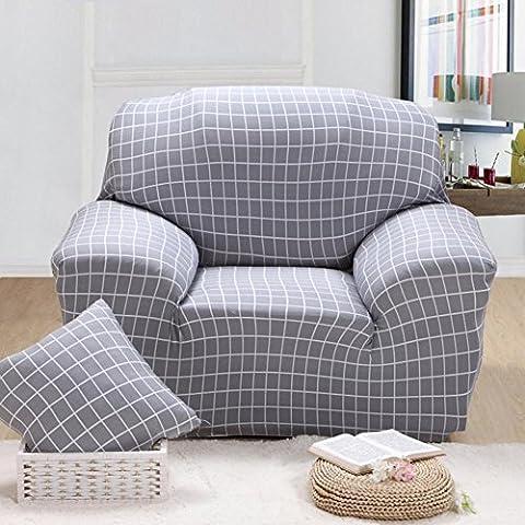 Housse de canapé élastique Imprimé fleurs Slipcover étroite Wrap complet Housse de canapé d'angle stretch couvertures de meubles 1/2/3places, 002, 3 seater:190-230cm