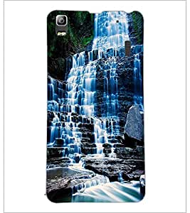PrintDhaba WaterFall D-1129 Back Case Cover for LENOVO K3 NOTE (Multi-Coloured)