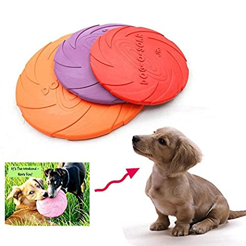 Dog flying Disc,NNIUK Dog Natural Rubber Flying Saucer/ Floating Water Dog Toy/ Floatable Frisbee Dog/ Dog Launchers Toy - The Best Gift for Your Lovely Pet,Color Random.