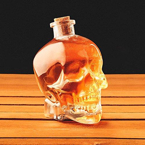 Skull Shaped Glas Getränke Dekanter - 750ml-Boxed