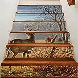 HAIMACX Applique Paint Valley Direct 3D Creative 6 Stück Wasserdichte Treppe Post Deer