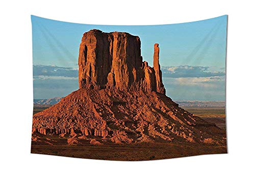 daawqee Tapestry Wall Hanging House Panorama of Popular American Canyon by Process of Long Erosion and Wind Theme Blue Orange Wall Art for Living Room Bedroom Dorm Decor