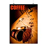 Coffee Paws Weird Food Cat Prank Matte/Glossy Poster A3 (42cm x 30cm)   Wellcoda