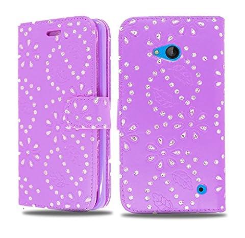 NWNK13® Nokia Lumia 630/635Exclusive Miroir compact Imprimé Côté ouvert Portefeuille Housse carte/Slot avec support intégré
