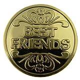Silber Ton originalgetreue Displayschutzfolie Pocket Token mit Gebet Best Friend (Beste/r Freund/in) Silber