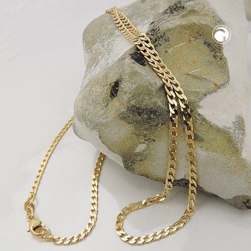 Bracelet Gourmette, 18,5cm, Ouvert, or 14K