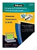 Fellowes 54770 - Portadas para encuadernar de polipropileno, A4, transparente