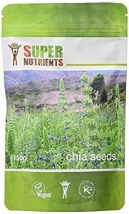 Supernutrients Complément Alimentaire Graines de Chia 150 g (lot de 2)