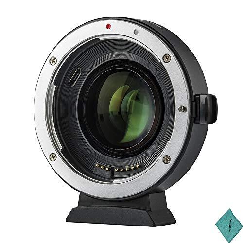 Viltrox EF EOS M2 Autofokus Objektiv 0,71X Brennweiten Multiplikator USB Upgrade für Canon EF-Serie auf EOS EF-M Mirrorless-Kamera für Canon EOS M / M2 / M3 / M5 / M6 / M10 / M50 / M100