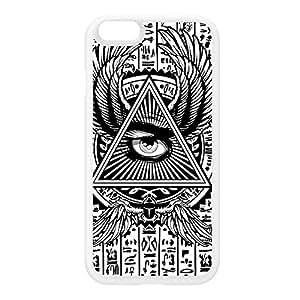 Illuminati Coque Silicone Blanc Snap-On Protection Arrière Caoutchouc pour iPhone 6 de Gangtoyz + Livré avec une protection d'écran GRATUITE
