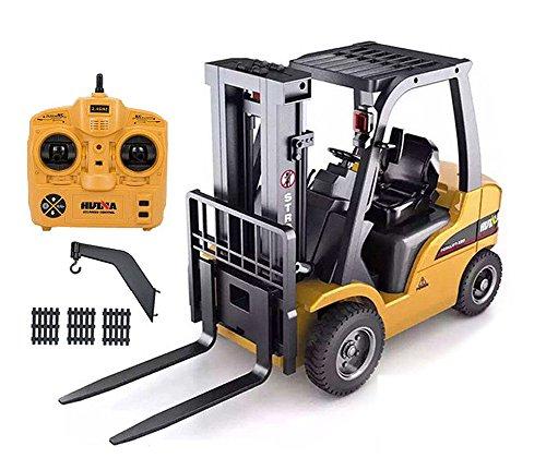 Outletdelocio.. Carretilla Elevadora y Grua radiocontrol electrica. 2.4Ghz. 8 Funciones. Bateria y Cargador Incluido