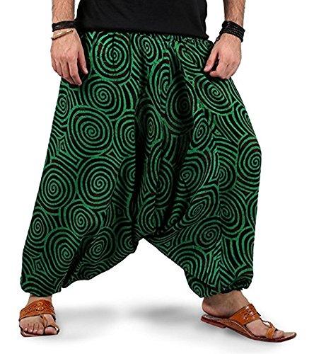 Kiara Herren Harem Hose one Size Gr. one Size, grün