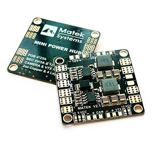 Matek PDB Mini Power Distribution Board 5V 12V HUB BEC Output Support 3S-6S Akku for FPV Racing Drone( 36mm * 36mm Version 3.1 ) by Crazepony-UK (Mini-board-kamera)