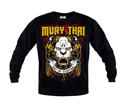 Rule Out Sweatshirt.Muay Thai. The Art Of Fighting. Gym. Kampfkunst. Sportswear.MMA. Crewneck. Martial Arts. Casual (Größe Medium)