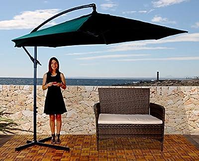 Semi-Profi Ampelschirm Carpi, Sonnenschutz, 3m neigbar ~ grün von Mendler bei Gartenmöbel von Du und Dein Garten