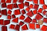 Bazare Masud e.K. 100g unregelmäßige Mosaiksteine Hoch glänzend Rot ca. 40St.