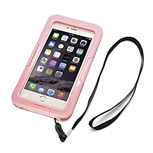 CyberTech 20ft Waterproof Shockproof Dirt Proof Sand Proof Silicon Touch Screen Case for iPhone 6 Plus (Pink)