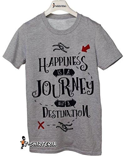 """t-shirt frasi simpatiche """"Happiness is a journey not a destination"""" la felicità è un viaggio, non una destinazione - tutte le taglie uomo donna maglietta by tshirteria"""