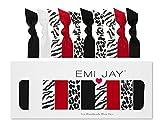 Emi Jay Animal Print - Pack de 10 gomas para el pelo, diseño de estampados animales, color negro y blanco