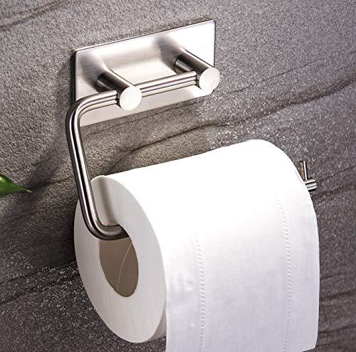 ZUNTO Selbstklebend Toilettenpapierrollenhalter Wand ohne bohren Edelstahl (Edelstahl-haltebügel)