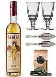 Starker Absinth / Absinthe Gold68 - ohne Anis / Anisfrei - erhöhter Wermutgehalt - 68% Alkohol - 0,5 Liter