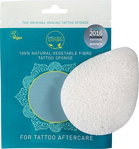 Éponge de tatouage en fibre 100 % végétale Konjac Sponge.