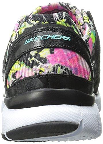 Skechers (SKEES) Flex Appeal - Obvious Choice, baskets sportives femme Negro (Bkmt)