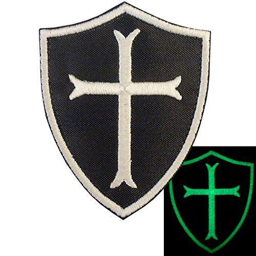 US Navy Seals Glow in the Dark DEVGRU Crusaders Templar Cross Embroidered Sew Iron on Aufnäher Patch (Cross The In Dark Glow)