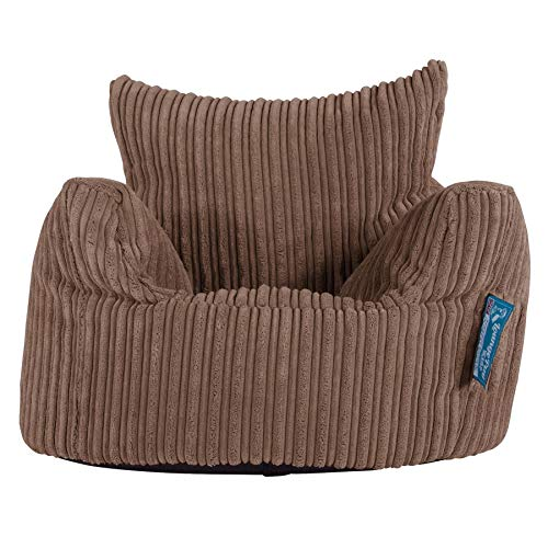 Lounge Pug®, Kindersessel Sitzsack, Sitzsack Kinder, Cord Mocca