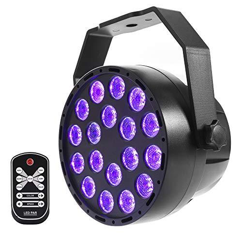 Mictuning UV nero luci–18x 3W LED fase Par luci–Violet DMX512DJ faretto 7modi mini lampada proiettore per parti fase KTV bar Club disco Lighting