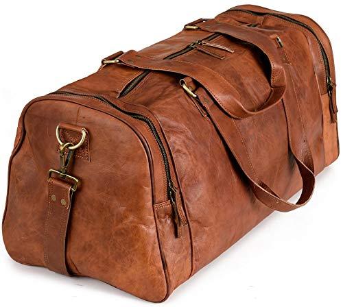 Berliner Bags Weekender Berliner Bags Bergen XL Reisetasche aus Leder Qualität Vintage Design Damen Herren Braun Groß 60 cm 45 Liter