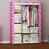 Greawei@ Falten einfacher Kleiderschrank Tuch Stahlrahmen Tuch Kleiderschrank Aufbewahrungsbox Einfache moderne Wirtschaft Schlafzimmer Einbauschrank Einfache Installation ( Farbe : B )