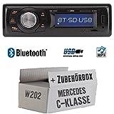 Mercedes C-Klasse W202 - Autoradio Radio Caliber RMD020BT - Bluetooth | MP3 | USB | Einbauzubehör - Einbauset