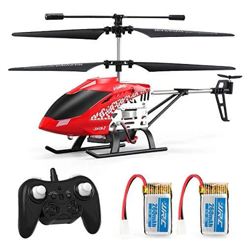 JJRC JX01 Rc Hubschrauber 3.5 Kanäle Höhe halten Helikopter mit Gyro 2.4GHz und LED Licht für Innen- RTF Antikollision Mini Helikopter RC Spielzeug Geschenk für Kinder und Erwachsene (Rot)