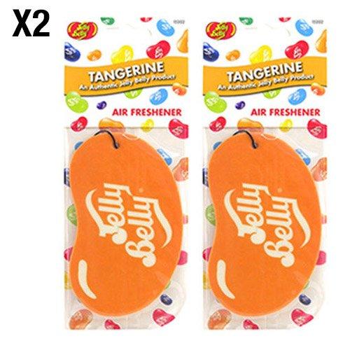 Preisvergleich Produktbild Jelly Belly Tangerine Lufterfrischer, Mandarinen-Duft, zum Aufhängen im Auto/Büro –2er-Pack (Doppelack)