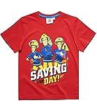 Feuerwehrmann Sam Jungen T-Shirt - rot - 110
