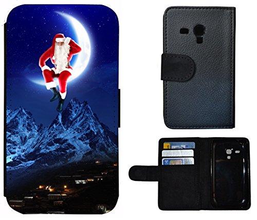 Flip Cover Schutz Hülle Handy Tasche Etui Case für (Apple iPhone 6 / 6s, 1415 Elefant Meer Strand Lustig Tier) 1418 Weihnachtsmann Berge Weihnachten