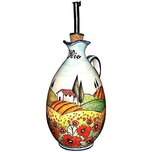 ceramiche-darte-parrini-italiana-de-ceramica-artistica-vinagrera-del-aceite-decoracion-amapolas-pais