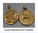 Zeus, King of the Gods Coin Pendant, Greek Gods & Goddesses Collection (#44PEND-G)